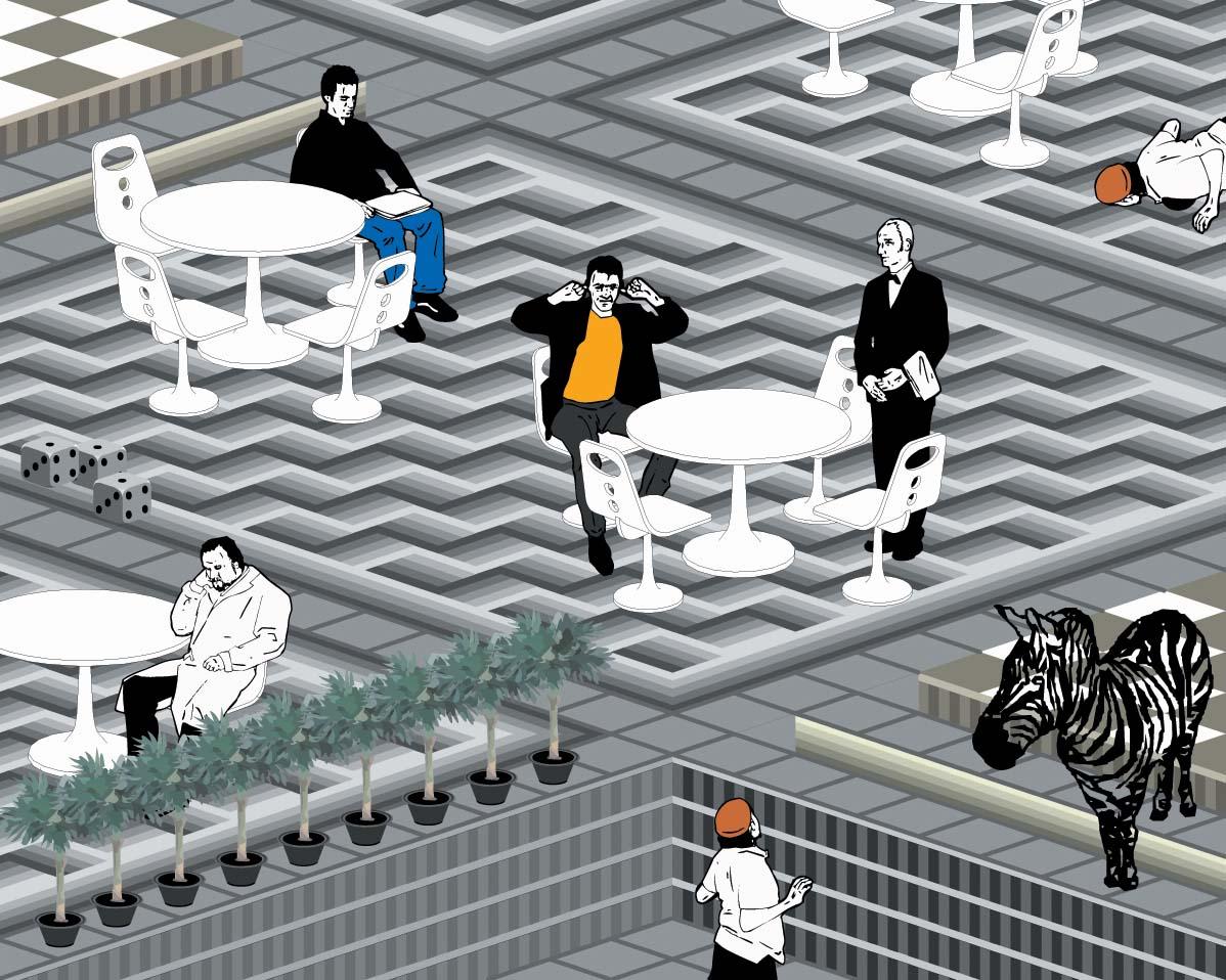 HOTEL interactive comic by Han Hoogerbrugge