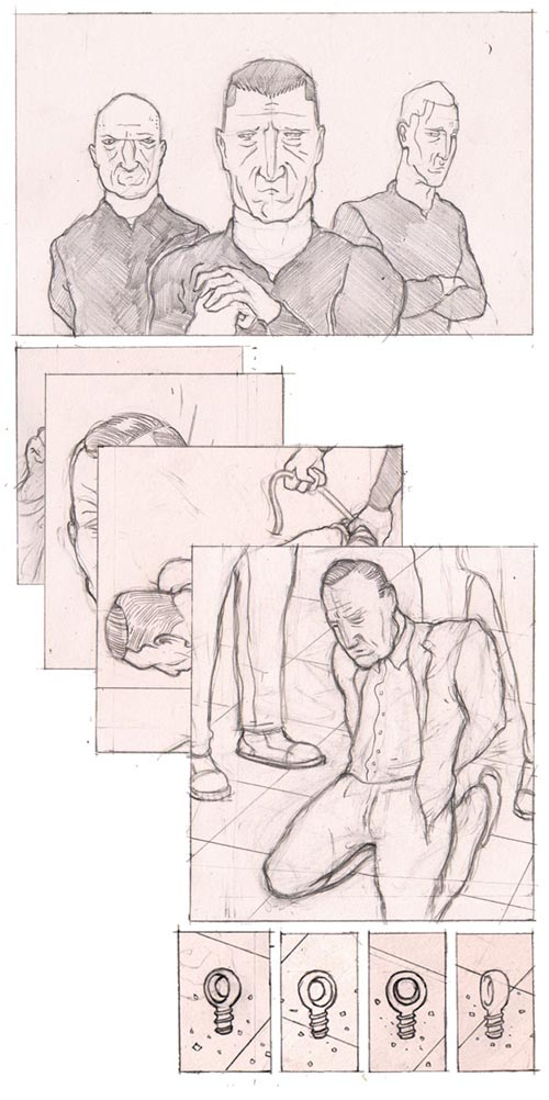 Storyboard art by Jasper Rietman for De Erfgenaam book trailer