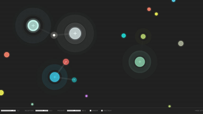 Tonfall Sequencer, Interactive Generative Music website