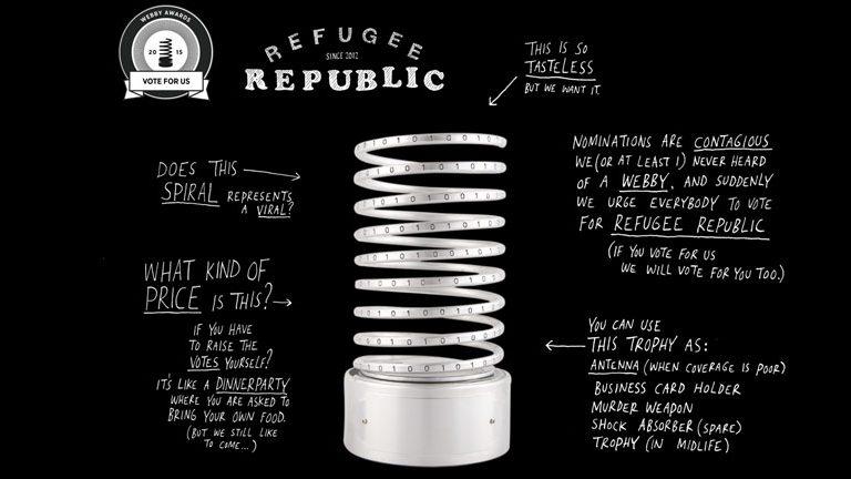 Webby Award Refugee Republic Interactive documentary Jan Rothuizen