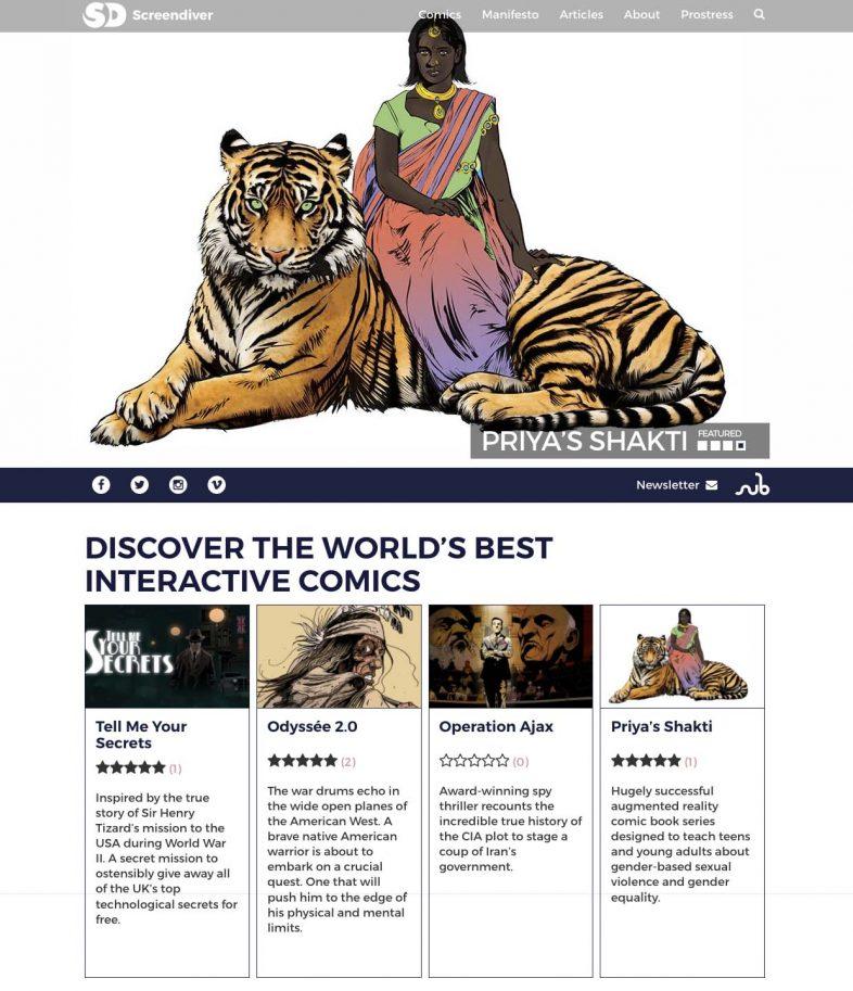 Screendiver interactive comics directory