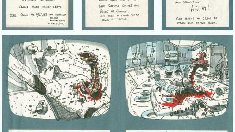 Alien Ridley Scott storyboard