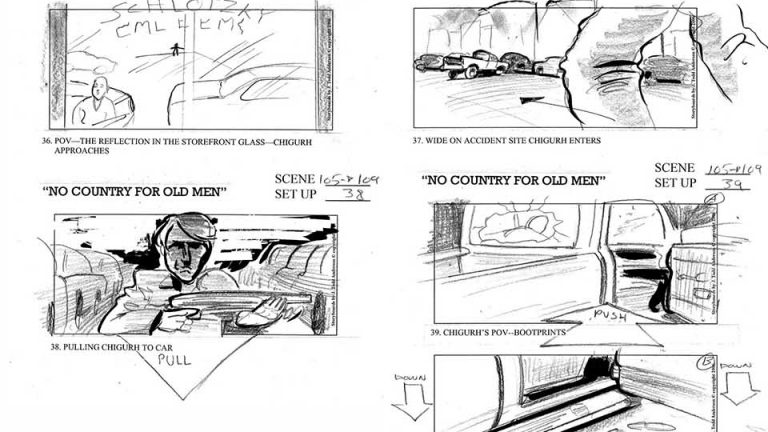 No Country For Old Men Coen Brothers storyboard Top 5 Famous Storyboards
