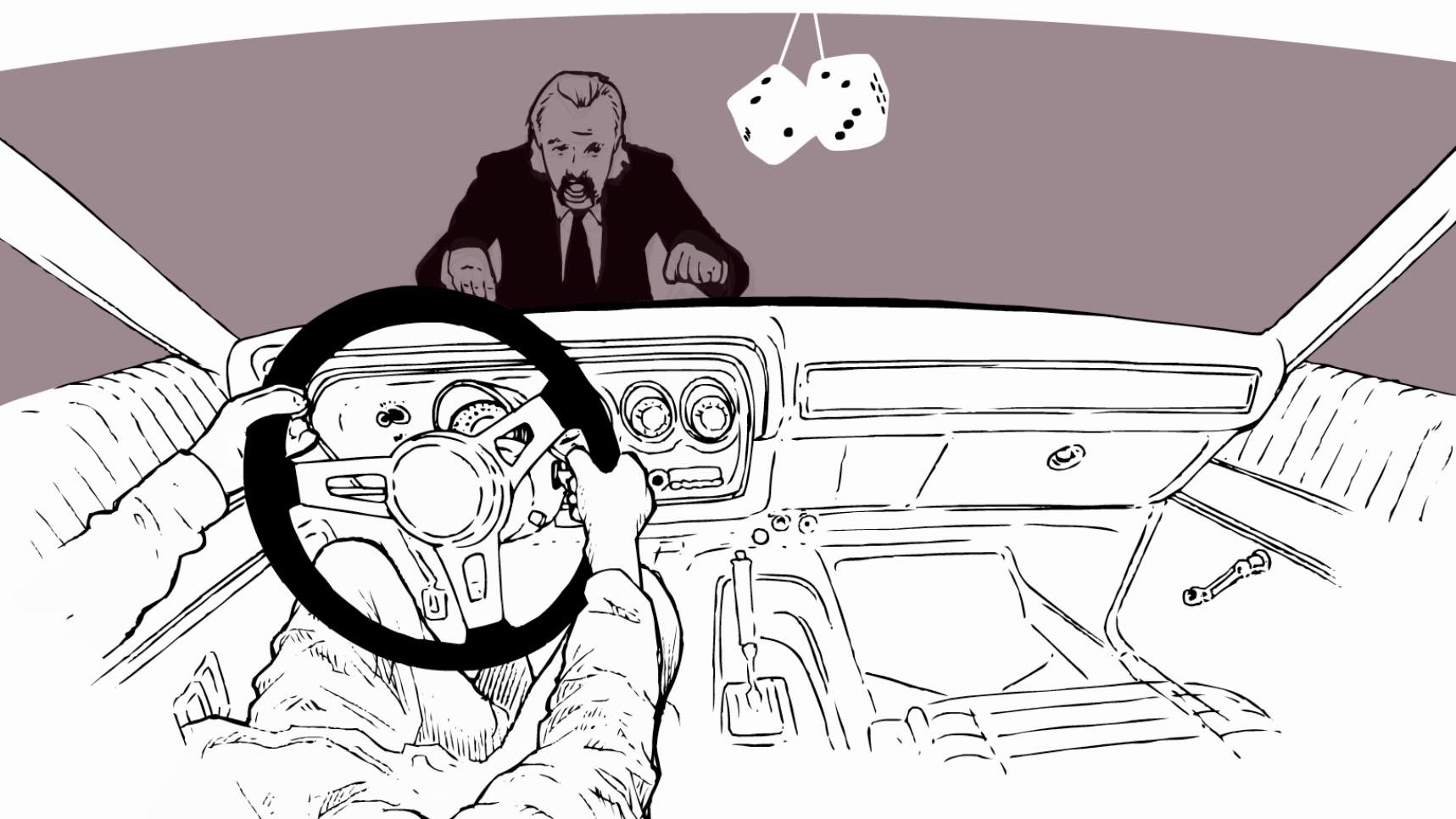 Korte animatie door Han Hoogerbrugge 'Nuisance'