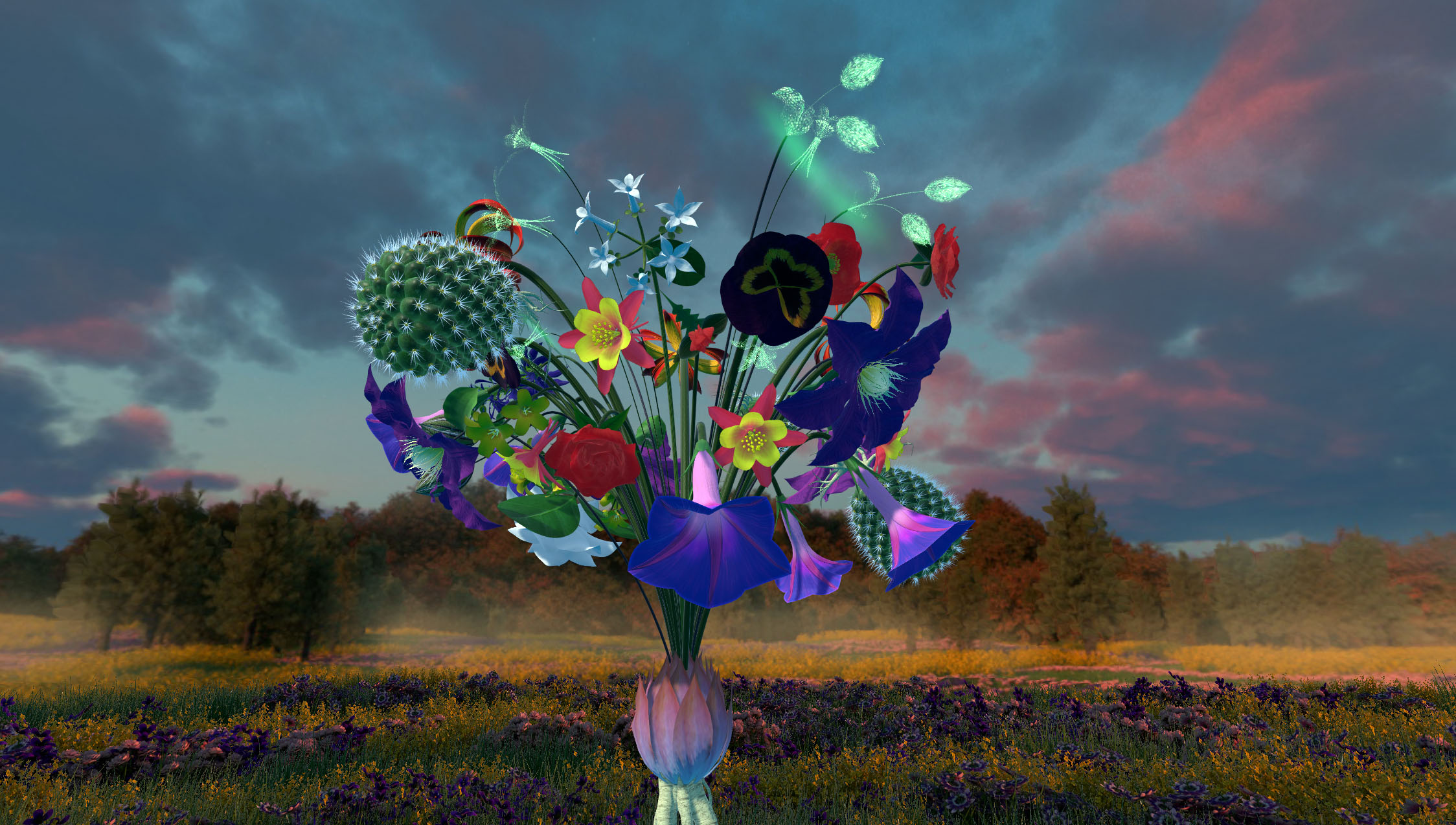 Ikebana A ife in Flowers VR