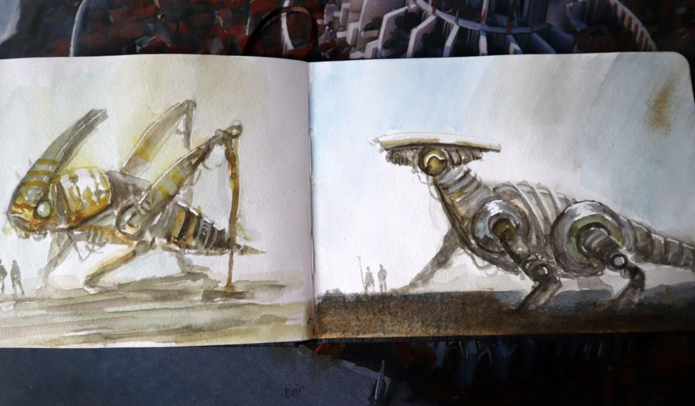 Leon Tukker concept art Oculus graavity sketch