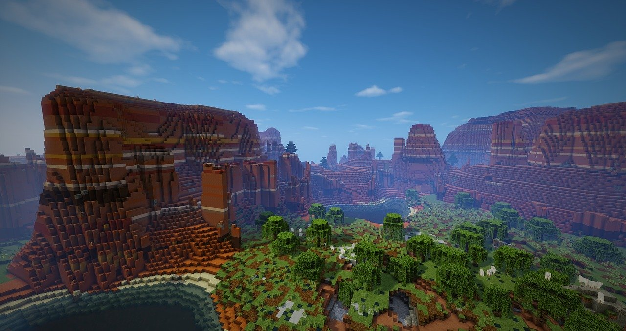 Landscape on Minecraft